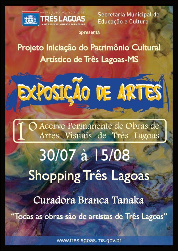 Acervo Permanente de Obras de Arte de artistas três-lagoenses serão expostos no Shopping TL