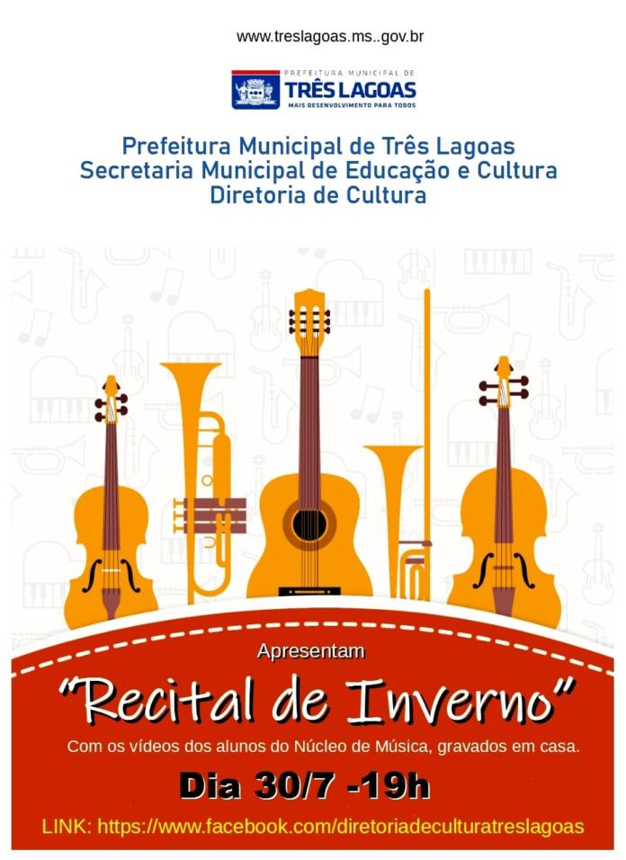 """""""Recital de Inverno 2021"""" será apresentado nesta sexta-feira (30)"""