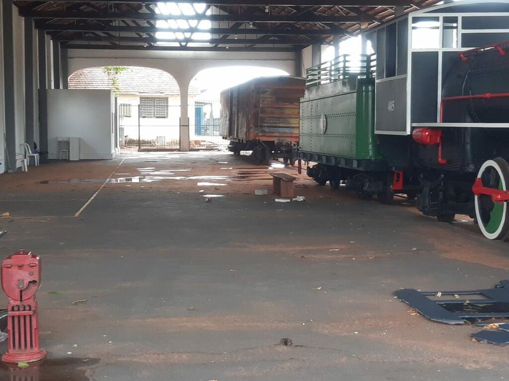 Exposição a Maria Fumaça é cancelada nesta semana em razão dos danos das chuvas