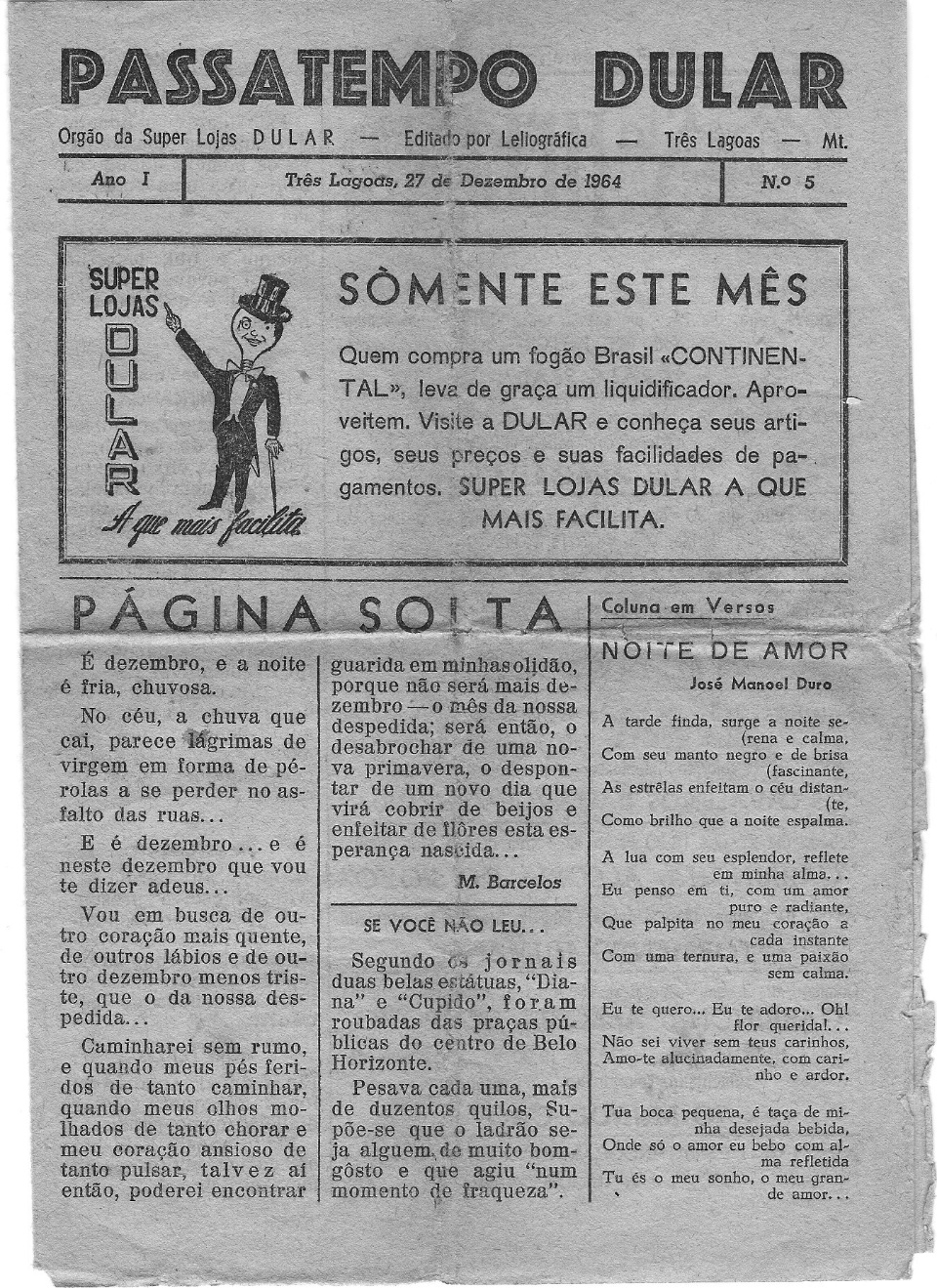 01. PASSATEMPO DULAR - 13 a 27.12.1964