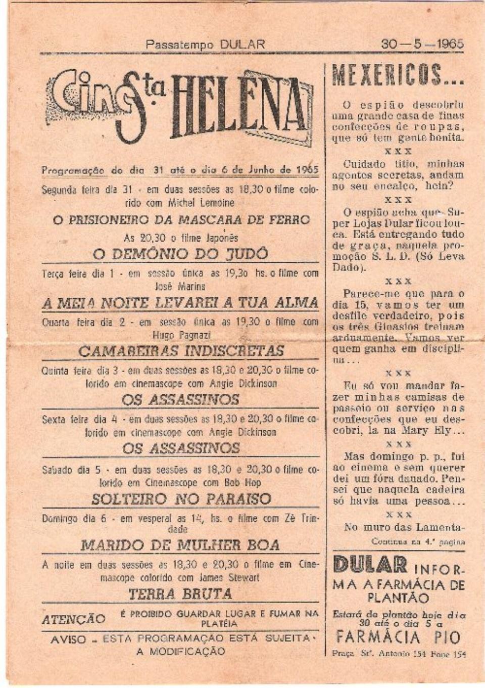 04. PASSATEMPO DULAR - 07.02 a 30.05.1965