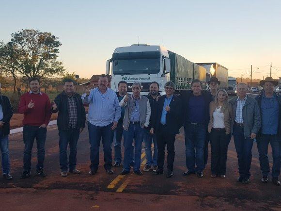 Deputado Eduardo Rocha acompanha serviços de melhorias no município de Brasilândia