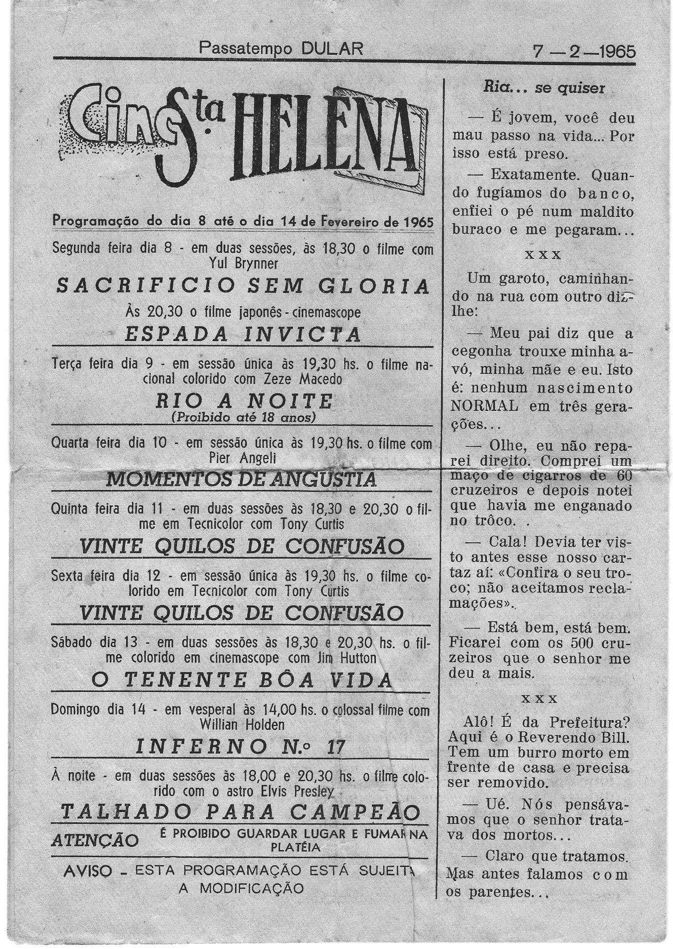 Capa da edição em 10.01.1965