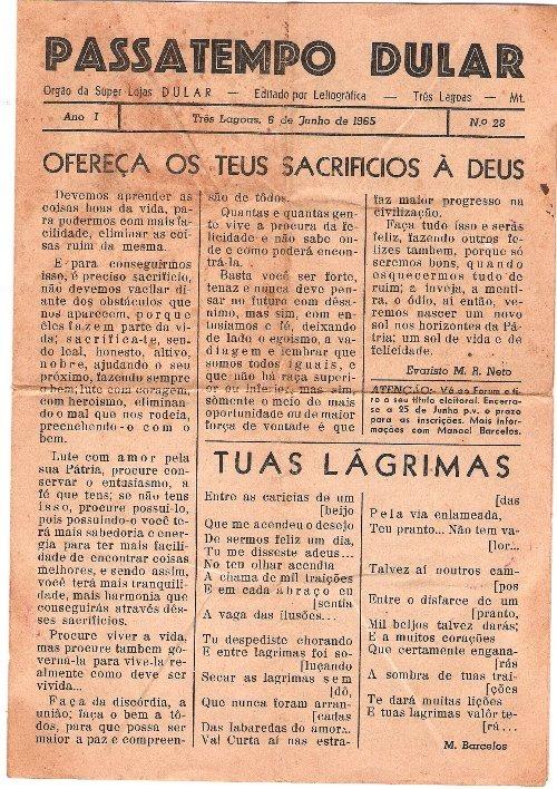 Capa da edição em 06.06.1965