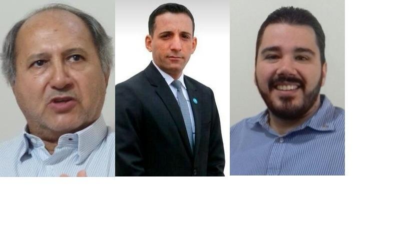 Ademir Celes da Silotres, Vereador Davis e Antonio Empke -= Secretario Municipal